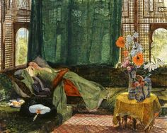John Frederick Lewis The Siesta (detail) 1876