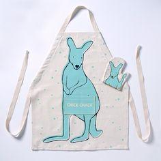 Kangaroo DIY Apron Kits for Kids   CHICKCHAK. Must make one with an elephant