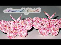 Tutorial - Farfalla alluncinetto ( crochet butterfly )
