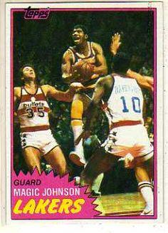 1981 Topps Magic Johnson Basketball Card for sale online Basketball Cards, Basketball Players, Magic Johnson Lakers, Curry Nba, Nba News, Larry Bird, Nba Players, Los Angeles Lakers, Wedding Humor