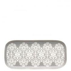 Green Gate / Porcelánový tácek Lace warm grey