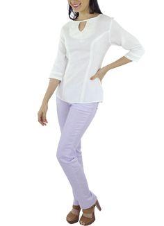 Blusa Nanao #moda #lino #SS2015 www.abito.com.mx