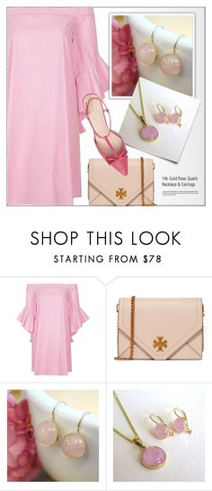 """""""Adita Gold - JEWELRY - Etsy"""" by monmondefou ❤ liked on Polyvore featuring River Island, Tory Burch, Kate Spade and aditagold"""