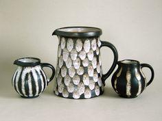 Monika Maetzel Hamburg Studiokeramik Set 4x Vase Krug Teller Studio Pottery