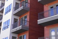 Beautiful RusticSeries Lap Siding on Allura Fiber Cement. Faux Wood Look on a Multifamily apartment project. Home design architecture beautiful.