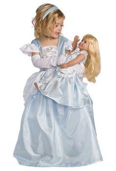 Twin Doll & Girl Cinderella Princess Dress up Costumes Cinderella Princess, Cinderella Birthday, Princess Dress Up, Princess Birthday, Cinderella Decorations, Gowns For Girls, Dress Up Costumes, Twins, Tulle