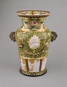 Century Vase, 1877.  Karl L.H. Muller for Union Porcelain Works.  Porcelain.  Metropolitan Museum of Art.