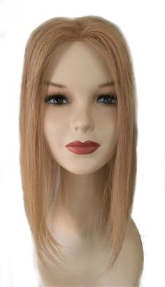 Processed blond hair topper