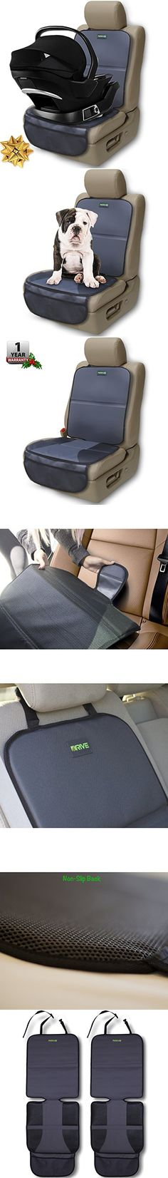 Car Seat Protector (2-Pack) by Drive Auto Products - Best Protection for Child & Baby Cars Seats, Dog Mat - Ultimate Cover Pad Protects Automotive Vehicle Leather or Cloth Upholstery