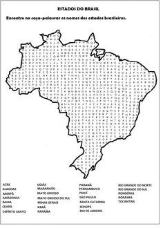 Caça palavras de Geografia atividades escolares legais | Facil Decore