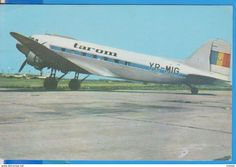 AIRPLANE AVION LI 2 THE FRIST PASSENGER AND CARGO PLANE USED THE ROMANIEN AIR ROUTES AFTER 1944 ROMANIA POSTCARD UNUSED - Roumanie