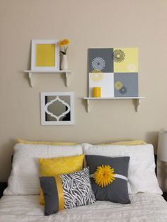 Maybe a guest room?  LOVE gray and yellow together
