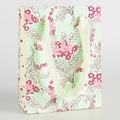Small Green Matilda Handmade Gift Bags Set of 2