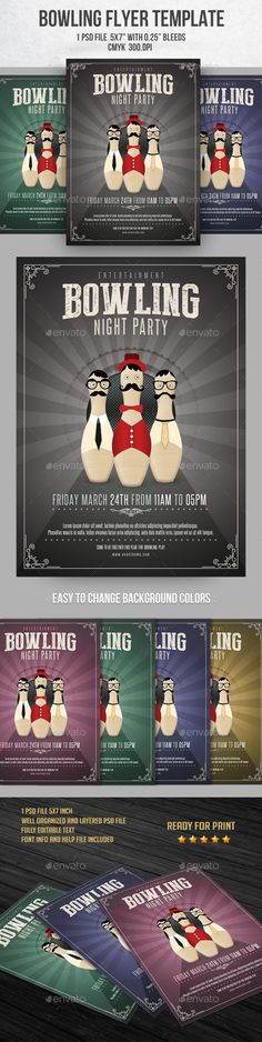 Bowling Tournament Flyer  Flyers And Bowling