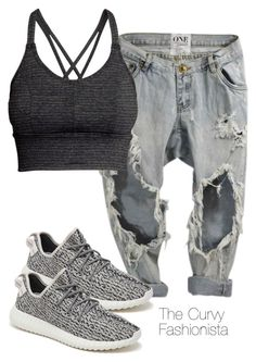 """""""Untitled #364"""" by thecurvyfashionista ❤ liked on Polyvore featuring adidas Originals and H&M"""