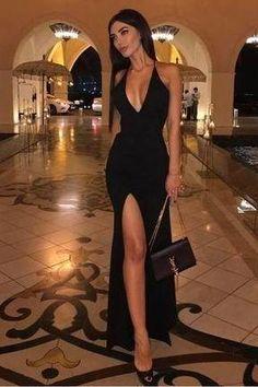 Pretty Prom Dresses, Black Prom Dresses, Black Evening Dresses, Gala Dresses, Elegant Dresses, Cute Dresses, Evening Gowns, Beautiful Dresses, Black Gala Dress