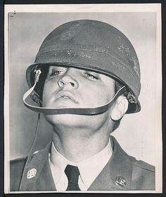 Elvis Presley in the army, 1958.