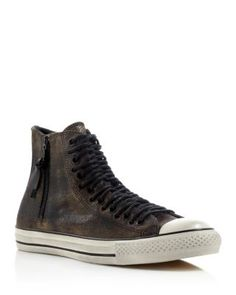 Converse All Star Hi Top Multi-Lace Zip Leather Sneakers | Bloomingdale's