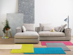 Brindisi sofa and Kerala carpets, Schön. products by Pfister Kerala, First Flat, Carpets, Home Accessories, Sweet Home, Couch, Living Room, Natural, Furniture