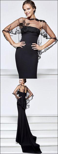 Attractive Acetate Satin Bateau Neckline Sheath Evening Dresses With Detachable Shawl