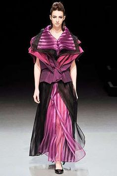 Karate Master Models - Poetic Candy Dresses in the Issey Miyake Fall 2009 Collection