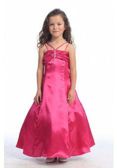 A-line Straps Sleeveless Taffeta Watermelon Flower Girl Dress With Ruffles #BUKCE032 - See more at: http://www.victoriasdress.com/wedding-party-dresses/flower-girl-dresses.html#sthash.5DiaKF3M.dpuf