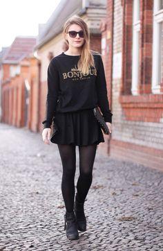 Cerejas no Topo: All Black // 5 Looks para Usar Antes do Inverno Acabar