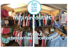 Have you heard that we converted the center room of our Chesterfield location into an outlet!?!?!? Great Deals on your favorite brands!  1654 Clarkson Road, next to StL Bread Co.  63017