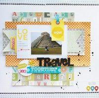 Travel Scrapbook Layout