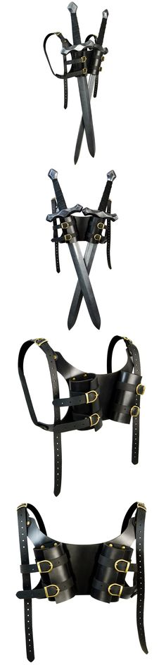 Other Role Playing Games 1183: Dual Larp Sword Back Harness -> BUY IT NOW ONLY: $51 on eBay!