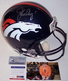John Elway Autographed Hand Signed Denver Broncos Authentic Full Size Helmet  - PSA DNA 08967165d