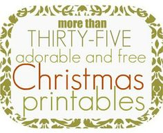 35+ FREE Christmas Printables! Gift tags, Christmas word blocks, posters, letter templates, etc!!