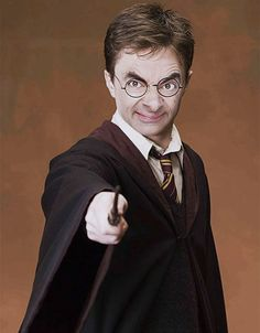 funny Harry Potter Mister Bean face on imgfave! i am dying here thet is almost as good as mr bean's face on all of one direction! :P