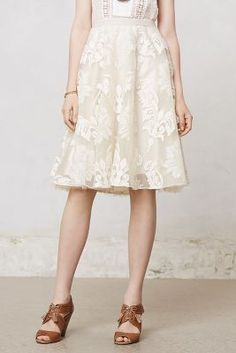 Tulle & lace skirt in cream