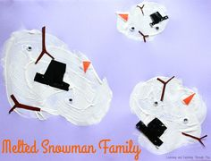 Melted Snowman Painting Craft great for Toddlers and Preschoolers. The messier the craft, the more effective it gets!