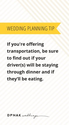Weddingplanning Tip If You Re Offering Transportation Be Sure To Find Out