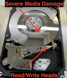 Checked in a Seagate (ST3000DM001) hard drive for data recovery. The drive makes constant clicking sounds when powered on. The customer took the drive to another data recovery shop then brought the drive to us for a second opinion. This is what we saw when we opened the drive in our cleanroom..... Crazy media damage =(. Data Recovery, Flat Rate, Cleaning, Shop, Home Cleaning, Store