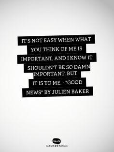 """""""Good News"""" by Julien Baker"""