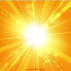 Summer sunburst vector teplate Free Vector