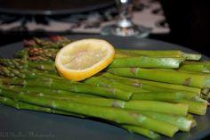 Asparagus steamed with lemon #Vegan
