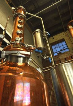Corsair Artisan Micro Batch Craft Spirits in Nashville TN. Applying micro-brewery concept to distilling spirits like gin, vodka, etc. Tours with tasting $8