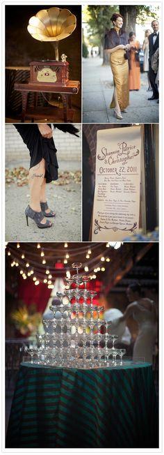 nyc 1930s speakeasy theme wedding