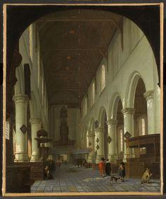 Vue de la vieille église de Delft à partir du portail en direction du choeur Cornelis de Man