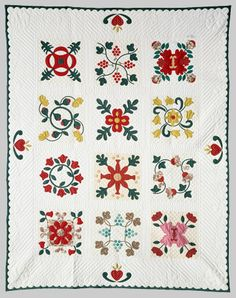 Pennsylvania Dutch Flower Garden quilt