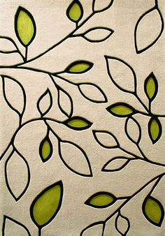 Beautify leaves rug