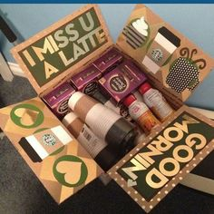 This is seriously the cutest friend care package idea I have seen! My friend is obsessed with starbucks so this is perfect for her for best friends care packages 22 Genius Friend Care Package Ideas Guaranteed To Make Them Smile - By Sophia Lee Diy Birthday, Birthday Gifts, Birthday Ideas, Birthday Basket, Craft Gifts, Diy Gifts, Holiday Gifts, Christmas Gifts, Christmas Care Package