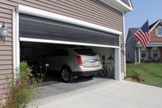 Retractable Garage Screen for Double and Single Garages