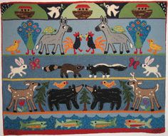 Totally-Hooked Rug Hooking Escapades: Rug Show Continues.... The Hooked in The Mountains Exhibit XIV