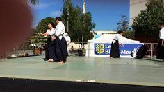 Vidéo de démonstration d'Aïkido lors de la convention des sports du samedi 3 septembre 2016.  Venez participer ou assister à un cours gratuit au Gymnase Langevin Blanc Mesnil.  Renseignements sur le site Internet : http://www.aikido-budo.fr/  #aikido  #aikitaiso #aikiken #aikijo #bukiwaza #aiki #aikidoka #hakama #bokken #bokuto #artmartial #budo