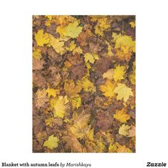 Blanket with autumn leafs